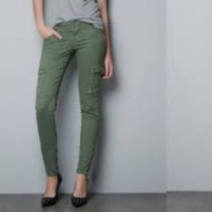 Zara Pants - Zara Green Cargo pants